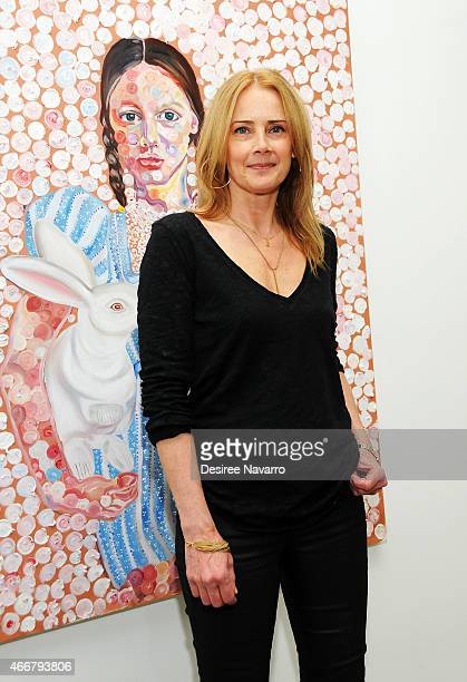 Founder and director Catherine Ahnell attends Tali Lennox Exhibition Opening Reception at Catherine Ahnell Gallery on March 18, 2015 in New York City.