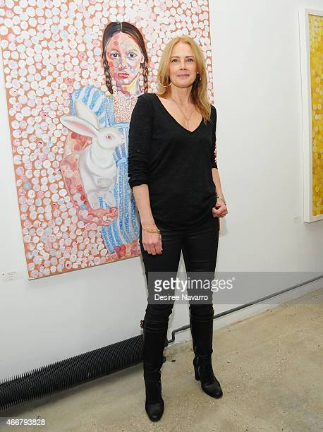 Founder and director Catherine Ahnell attends Tali Lennox Exhibition Opening Reception at Catherine Ahnell Gallery on March 18 2015 in New York City