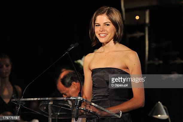 Founder and director of Into the Gloss Emily Weiss speaks onstage at The Daily Front Row's Fashion Media Awards at Harlow on September 6 2013 in New...