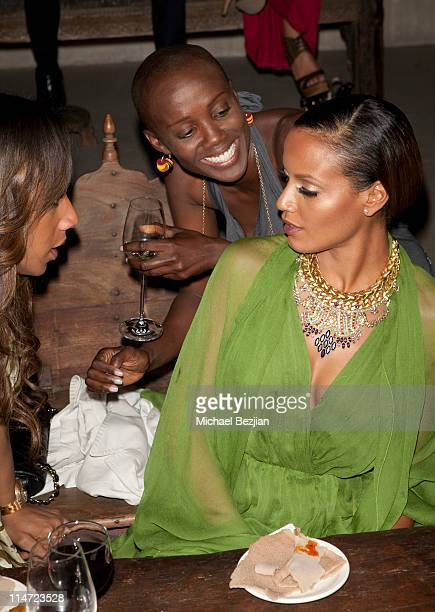 Founder and director of Shine on Sierra Leone Tiffany Persons and model Selita Ebanks attend LA Confidential Presents Shine On Sierra Leone 5th...