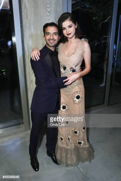 Founder and Editor-in-Chief of The Business of Fashion Imran Amed and Selena Gomez attend the #BoF500 party during New York Fashion Week...