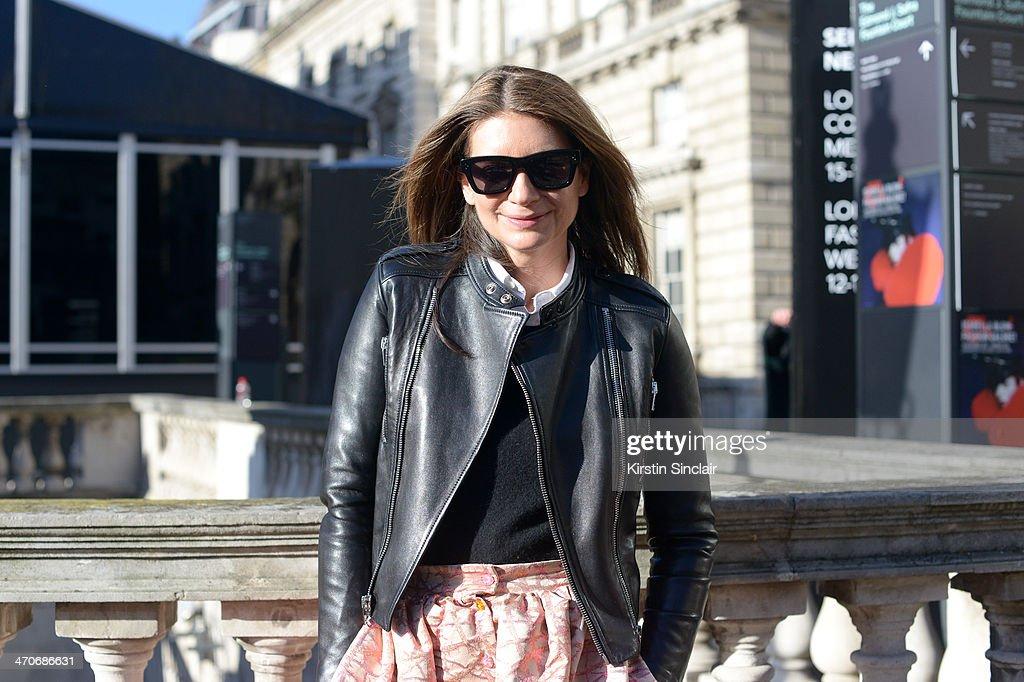 Street Style: Day 3 - London Fashion Week AW14 : News Photo