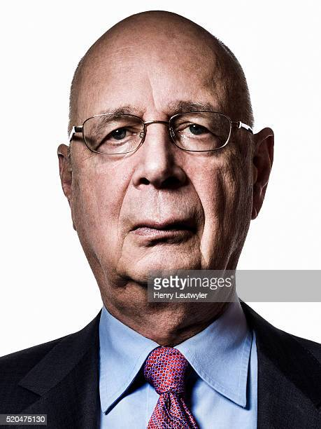 Founder and executive chairman of the World Economic Forum Klaus Schwab is photographed for Wall Street Journal on March 19 2014 in New York City