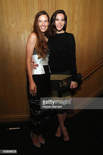 Founder and Executive Director of The Lunchbox Fund Topaz PageGreen and actress Liv Tyler attend The Lunchbox Fund Fall Fête at Buddakan New York on...