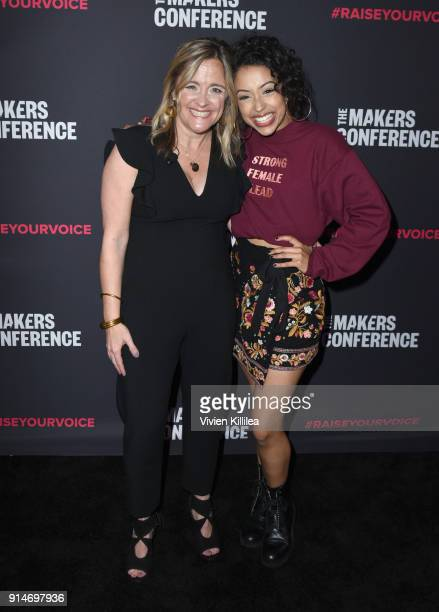 Founder and Executive Producer MAKERS Dyllan McGee and Liza Koshy attend The 2018 MAKERS Conference at NeueHouse Hollywood on February 5 2018 in Los...