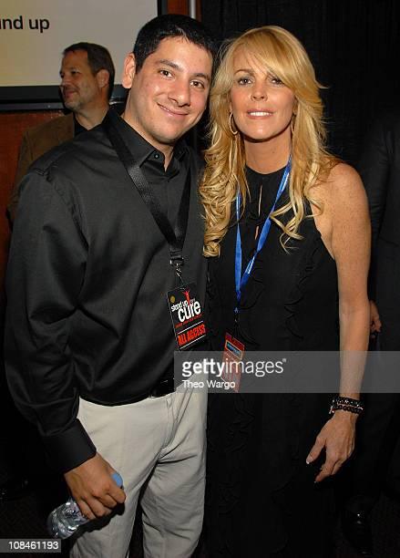 """Founder and executive producer of Stand Up for a Cure Concert Series Jordan Belkin and TV personality Dina Lohan attend the after party for """"Stand Up..."""