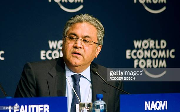Founder and Group Chief Executive of the Abraaj Group Arif Naqvi from Pakistan gives a speech during the second day of the World Economic Forum...