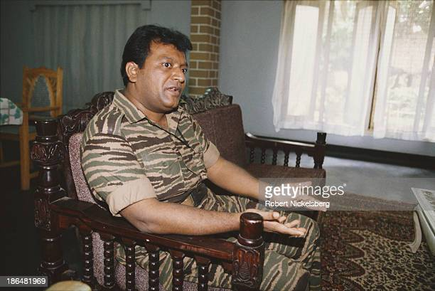 Founder and leader of the Liberation Tigers of Tamil Eelam Velupillai Prabhakaran Sri Lanka 1994