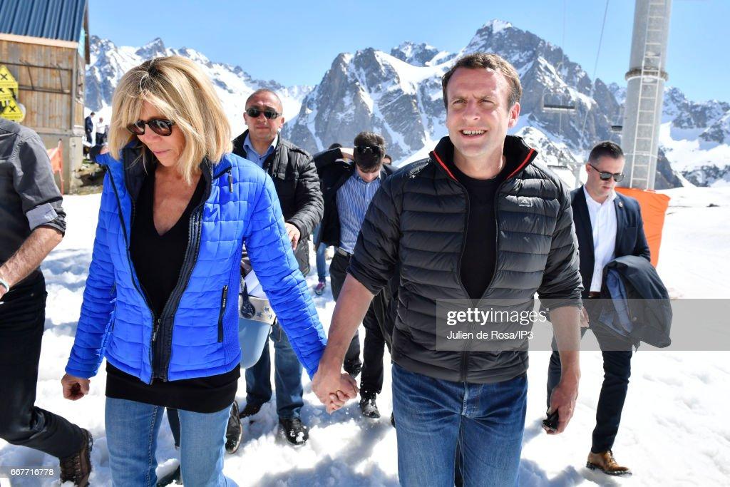 French Presidential Candidate Benoit Hamon Visits Region Ile De France : News Photo