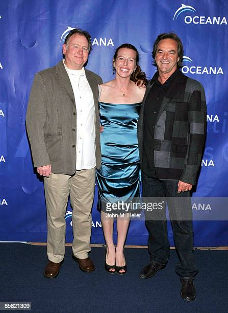 Founder and Member of the Board Oceana Beto Bedolfe III actor Tanna Frederick and Paul Naude recipient of the Oceana Sea Friend Award for Outstanding...