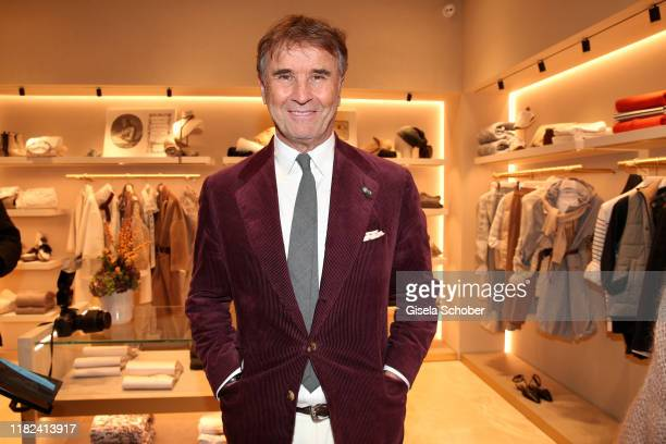 Founder and President Brunello Cucinelli during the Brunello Cucinelli women store opening on November 14, 2019 in Munich, Germany.