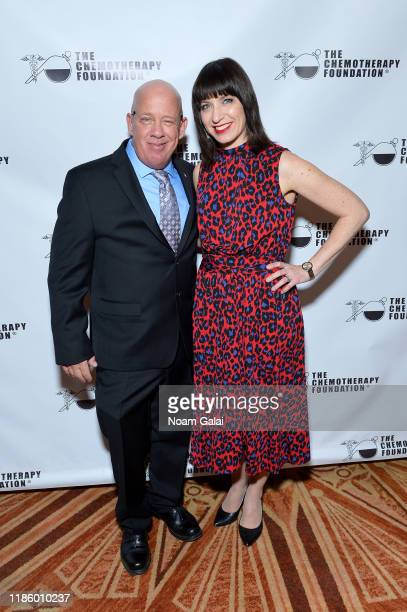 Founder and President FealGood Foundation and Humanitarian Award recipient John Feal and Ophira Eisenberg attend the 2019 Innovation Gala Dedicated...