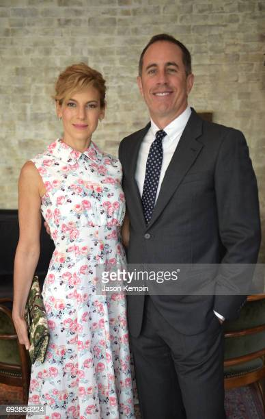 Founder and President GOOD Foundation Jessica Seinfeld and Host Jerry Seinfeld attend GOOD Foundation MR PORTER Host Fatherhood Lunch With Jerry...
