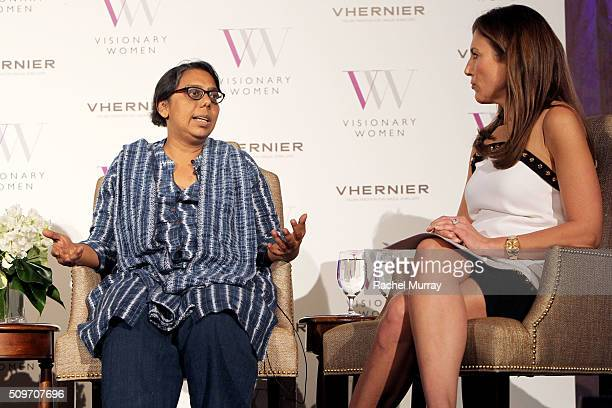 Founder and President of Apne Aap Women Worldwide Ruchira Gupta and Moderator Thea Andrews speak onstage at The Stories You Haven't Heard Modern Day...