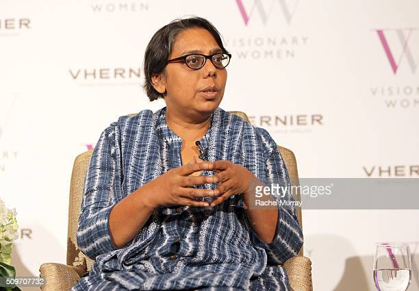 Founder and President of Apne Aap Women Worldwide Ruchira Gupta speaks onstage at The Stories You Haven't Heard Modern Day Slavery in America and...