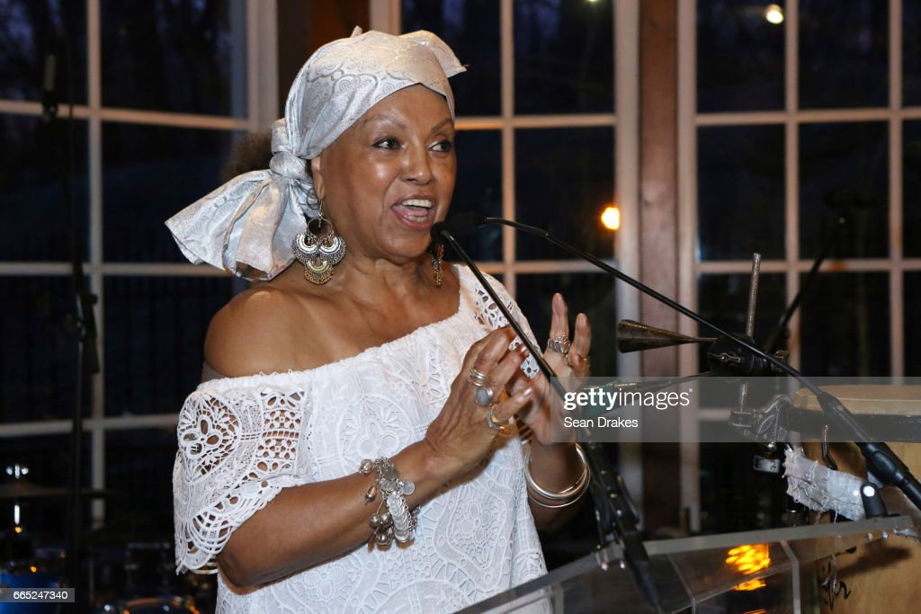 Founder and President of CCCADI Doctor Marta Morena Vega speaks during a dinner party as part of the 2nd Annual Caribbean Cultural Center African Diaspora Institute (CCCADI) Spring Gala Reception at The Loeb Boathouse on April 05, 2017 in New York City, United States.
