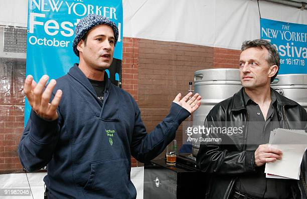 Founder and president of Dogfish Head Craft Brewery Sam Calagione and The New Yorker's staff writer Burkhard Bilger speak at The 2009 New Yorker...