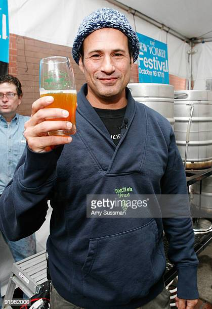 Founder and president of Dogfish Head Craft Brewery Sam Calagione attends The 2009 New Yorker Festival Bottoms Up Beer Brewing at The Gate Park Slope...