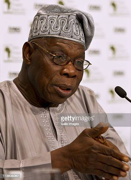 Founder and president of Obasanjo Holdings Olusegun Obasanjo at the World Economic Forum on Africa at the Cape Town International Convention Centre...