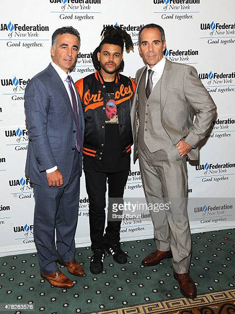 Founder and President of Republic Records Avery Lipman The Weeknd and Founder and CEO of Republic Records Monte Lipman attend the 2015 UJAFederation...