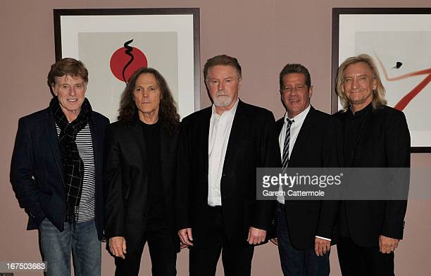 """Founder and President of Sundance Institute Robert Redford, musicians Timothy B. Schmit, Don Henley, Glenn Frey and Joe Walsh attend """"History Of The..."""