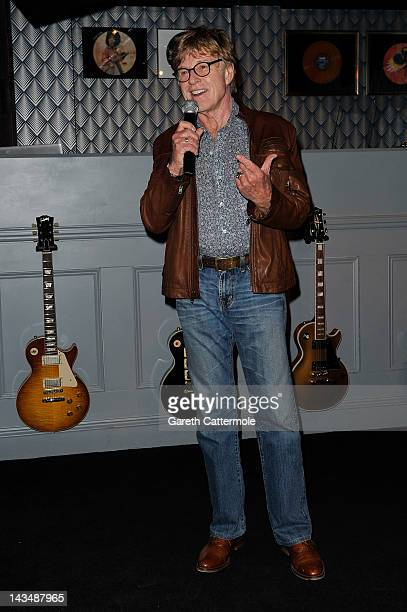 Founder and President of Sundance Institute Robert Redford speaks at the BIG Sundance London Party during Sundance London at Filmmaker Lounge...