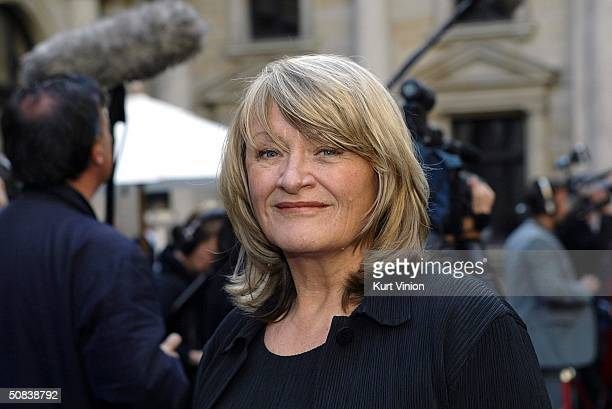 Founder and publisher of the feminist magazine EMMA Alice Schwarzer arrives to the Golden Feather awards at Hamburgs Chamber of Commerce May 14 2004...