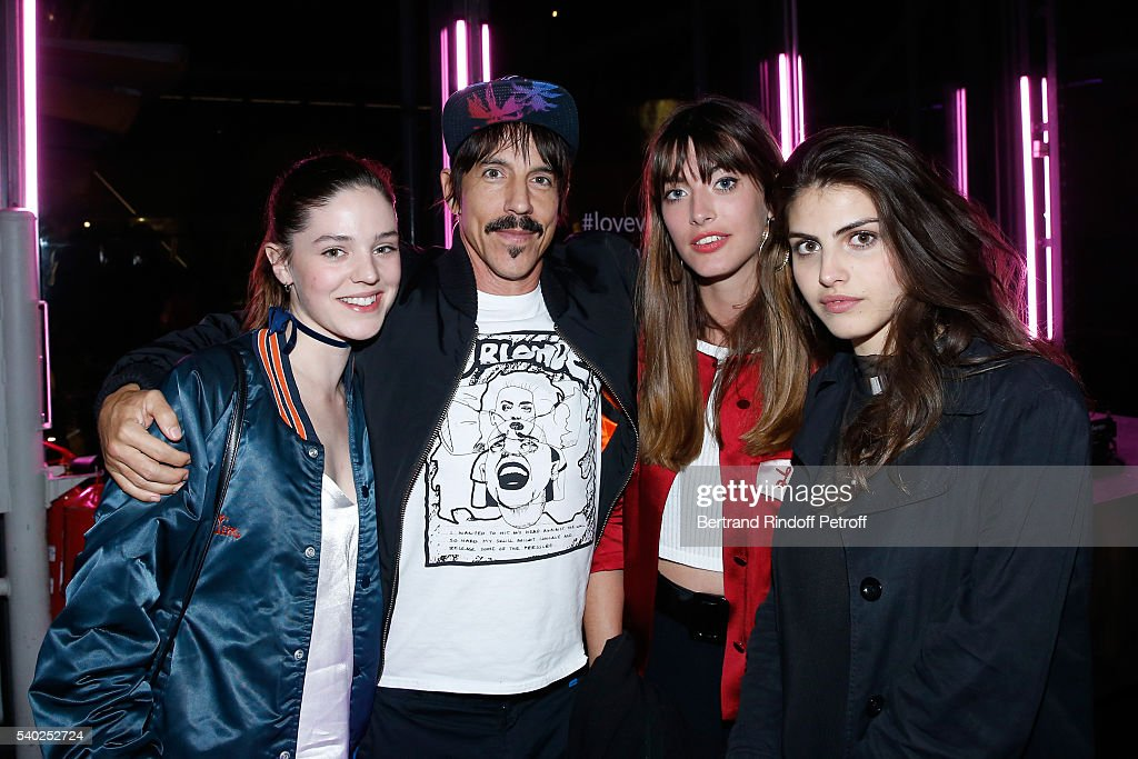Founder and singer of group Red Hot Chili Peppers, Anthony Kiedis and guests attend YSL Beauty launches the new Fragrance 'Mon Paris' at Cafe Le Georges on June 14, 2016 in Paris, France.