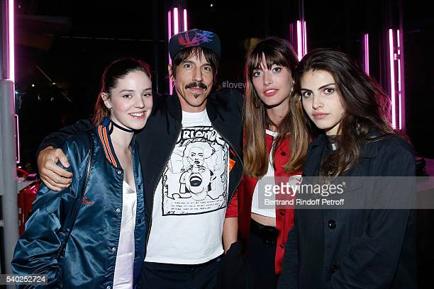 Founder and singer of group Red Hot Chili Peppers Anthony Kiedis and guests attend YSL Beauty launches the new Fragrance Mon Paris at Cafe Le Georges...