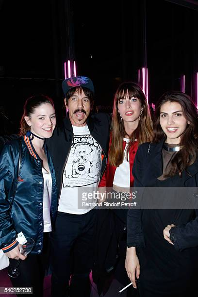 Founder and singer of group Red Hot Chili Peppers Anthony Kiedis and guests attend YSL Beauty launches the new Fragrance 'Mon Paris' at Cafe Le...