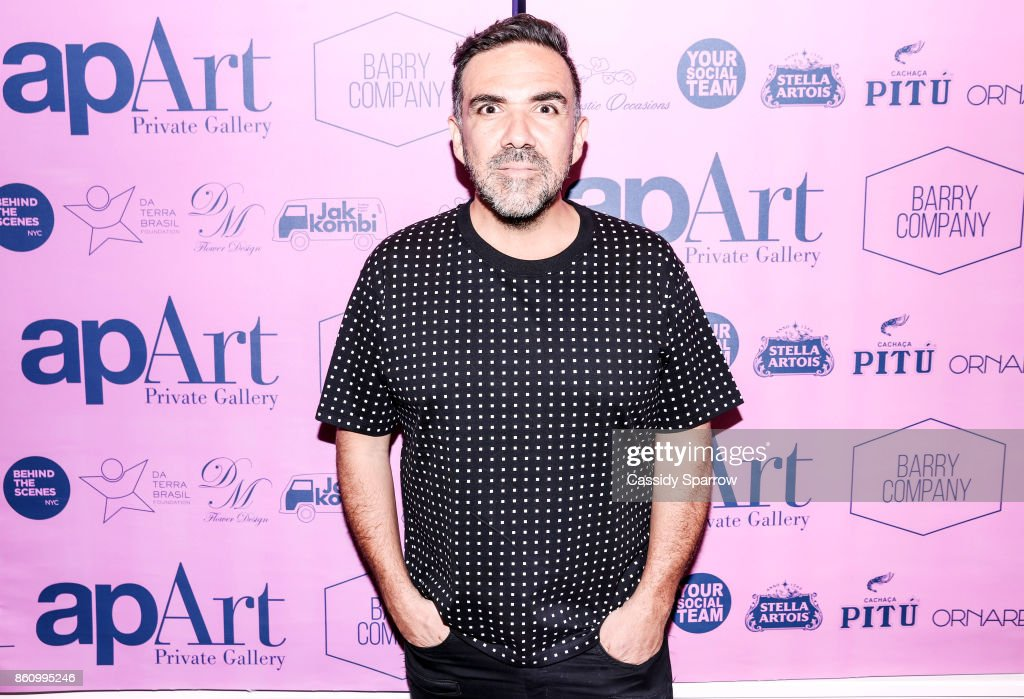Founder apArt Private Gallery Leo Macias attends 'Terebintina' Exhibition Opening at Private Residence on October 5, 2017 in New York City.