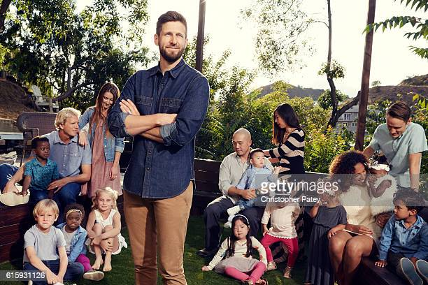 Founder at World Adoption Day Hank Fortener is photographed for People Magazine on May 7 2016 in Los Angeles California Published Image