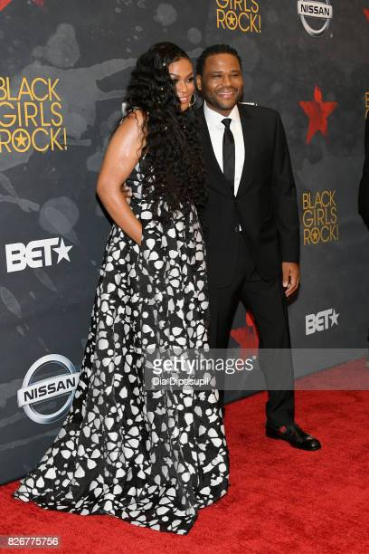 CEO Founder BLACK GIRLS ROCK Beverly Bond and Anthony Anderson attend Black Girls Rock 2017 at NJPAC on August 5 2017 in Newark New Jersey