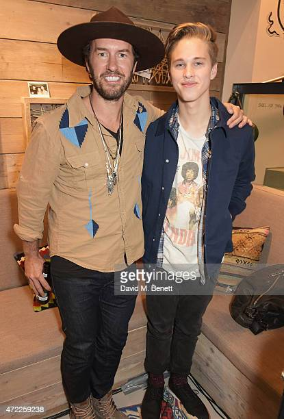 TOMS founder Blake Mycoskie and Ryan Beatty attends the launch of TOMS London Community Outpost their first UK Flagship store off Carnaby Street on...