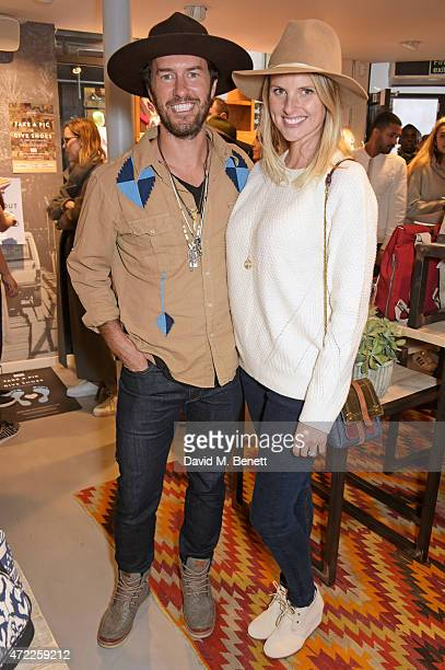 TOMS founder Blake Mycoskie and wife Heather Mycoskie attend the launch of TOMS London Community Outpost their first UK Flagship store off Carnaby...