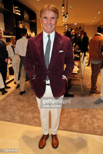 Founder Brunello Cucinelli during the Brunello Cucinelli women store opening on November 14 2019 in Munich Germany