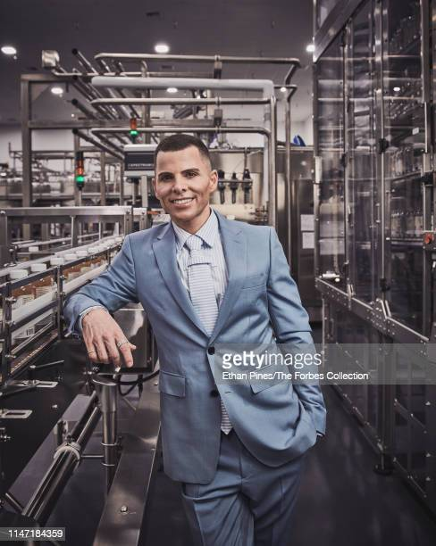 Founder CEO at GT's Kombucha George Thomas Dave is photographed for Forbes Magazine on April 8 2019 in Vernon California PUBLISHED IMAGE CREDIT MUST...
