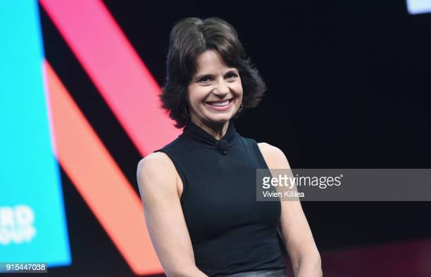 Founder CEO Fast Forward Group Lisa McCarthy speaks onstage during The 2018 MAKERS Conference at NeueHouse Hollywood on February 7 2018 in Los...