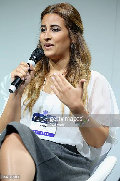 Founder CEO Helm Foundation Amena ElSaie speaks at the 2016 Concordia Summit Day 2 at Grand Hyatt New York on September 20 2016 in New York City