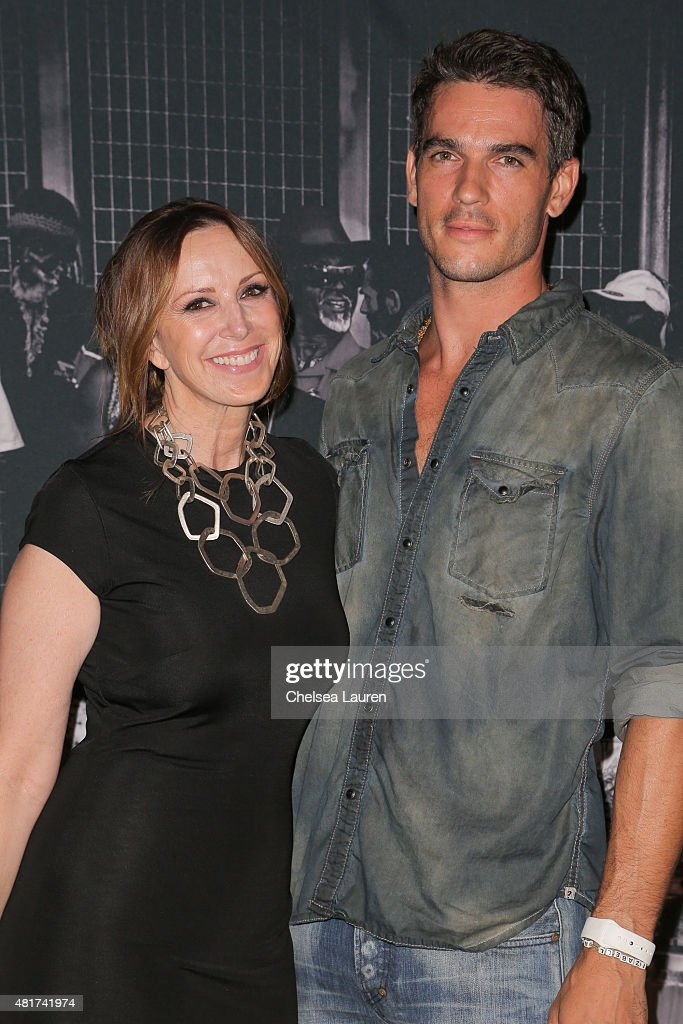 Founder & CEO of Frank LA Alison Miller (L) and Frank LA model / actor Josh Kloss arrive at the Frank LA Issue release celebration 'No. 001 - No Place Like Home' benefitting LAMP community on July 23, 2015 in Los Angeles, California.