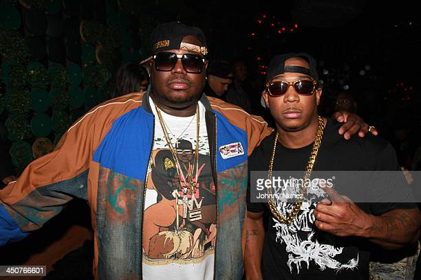 Founder CEO Of WorldStarHipHopCom Lee 'Q' O'Denat and recording artist/ actor Ja Rule attend the Yo Gotti Album Release Party at Greenhouse on...
