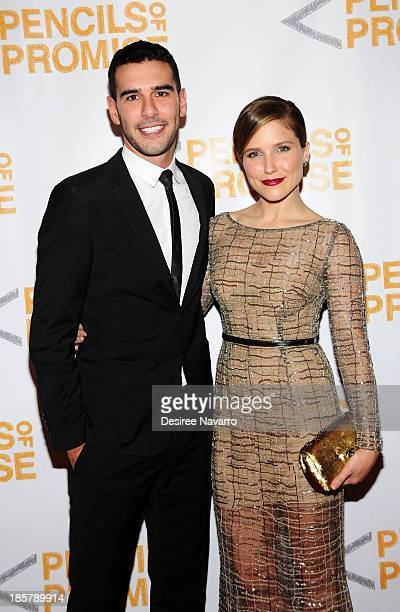 Founder CEO Pencils of Promise Adam Braun and actress Sophia Bush attend the 3rd annual Pencils of Promise Gala at Guastavino's on October 24 2013 in...