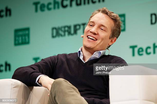 Founder CEO Rocket Internet Oliver Sawmer during TechCrunch Disrupt London 2015 Day 1 at Copper Box Arena on December 7 2015 in London England