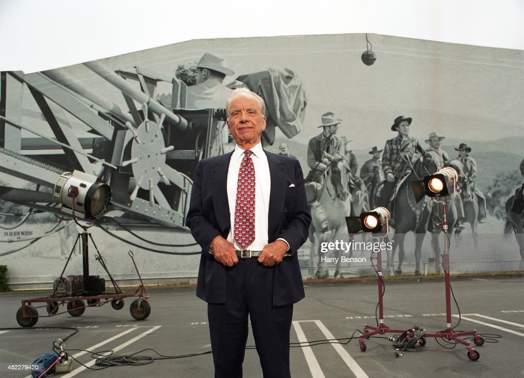 Founder, chairman and CEO of News Corporation Rupert Murdoch poses for a portrait on the 20th Century lot in 1999 in Century City, California.