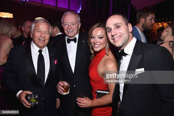 Founder Chairman and CEO of the Kraft Group Robert Kraft and Owner/President/General Manager of the Dallas Cowboys Jerry Jones and guests attend the...