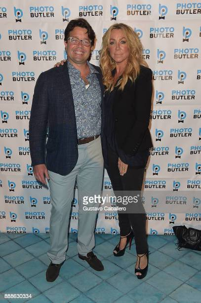 Founder Chief Butler of Photo Butler Andy Goldfarb and Anna Rothschild attend Rosario Dawson Hosts The Launch Of Photo Butler At Art Basel With Anna...