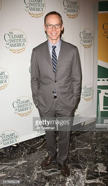 Founder CoCEO and Chairman of Chipotle Mexican Grill Steve Ells attends the Culinary Institute of America's 2011 Augie Awards at The New York...