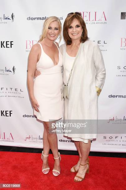 CEO Founder Courtenay Hall and actress Linda Gray attend the BELLA Los Angeles Summer Issue Cover Launch Party at Sofitel Los Angeles At Beverly...