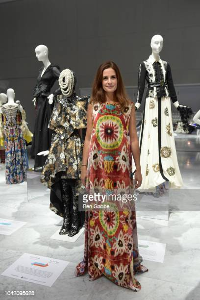 Founder Creative Director of EcoAge Livia Firth attends The EcoAge Commonwealth Fashion Exchange US Debut presented by Swarovski The Woolmark Company...