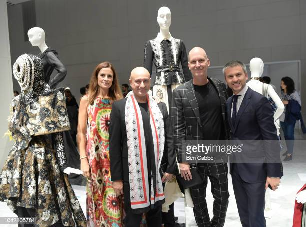 Founder Creative Director of EcoAge Livia Firth Designers Charles Borg Ron van Maarschalkerweerd and CEO of MATCHESFASHIONCOM Ulric Jerome attend The...